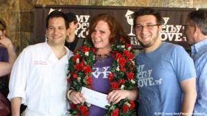 2013's Tale of the Horse winner Alexis Weber (center) with Chef John Varanese (left)