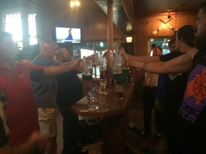 A game of Raise the Stein broke out at Mulligan's last week.