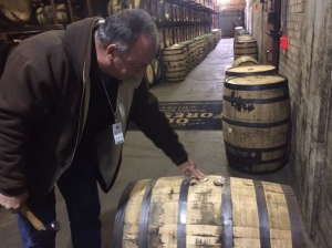 The Back Door's John Dant selects his barrel.