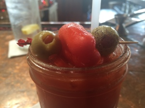 The $2 bloody marys at Big Four Burgers were delicious.