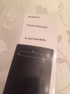 One of my dad's winning hands. Gross.