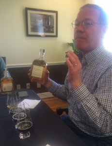 Chris Morris with the Five Malt whiskey