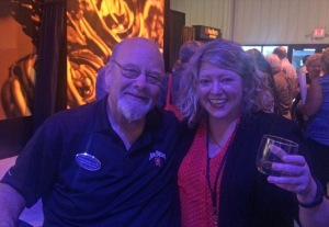 Jim Beam master distiller Fred Noe and this dork.