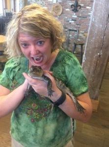 Held a baby alligator in Louisiana.