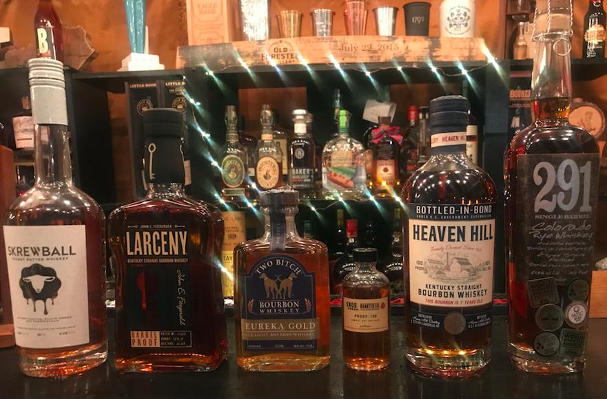 Tasteless Tastings bottles of bourbon
