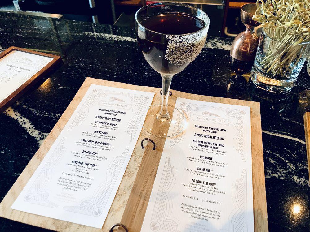 Angel's Envy cocktail menu