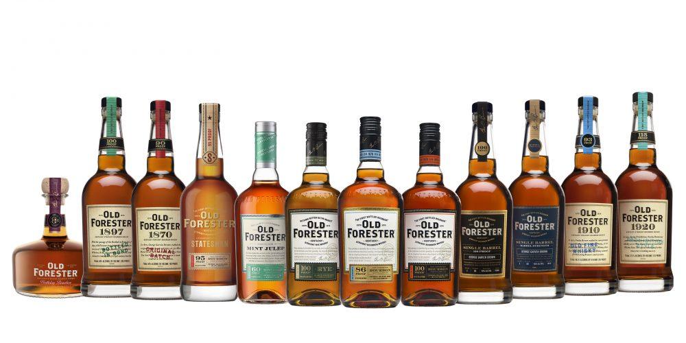 Old Forester family of bottles