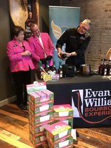 dipping bottles at Evan Williams