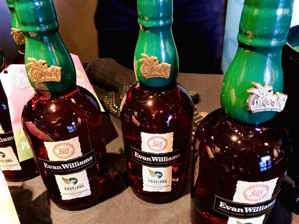 Evan Williams Kentucky Derby Festival bottles