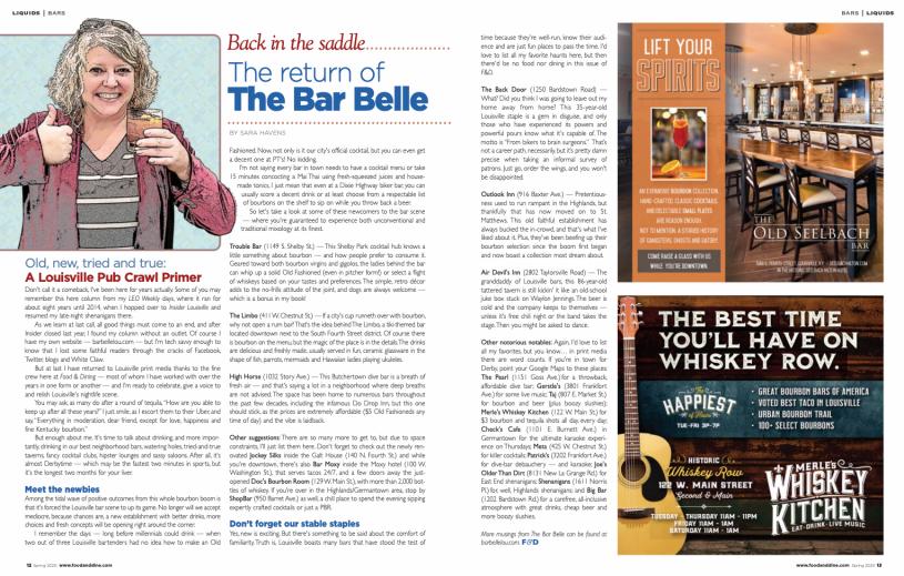 Bar Belle column