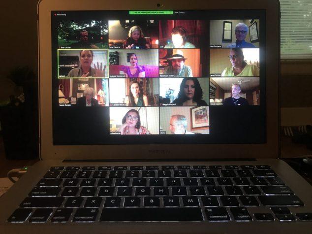 Zoom call of Kentucky writers