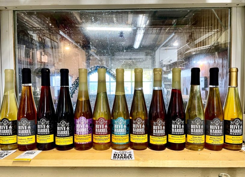 Hive & Barrel Meadery products