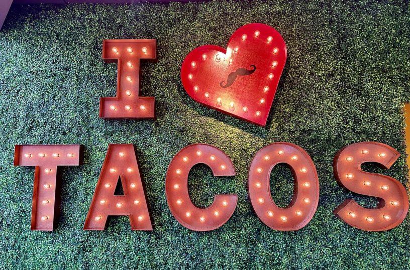 I Love Tacos sign