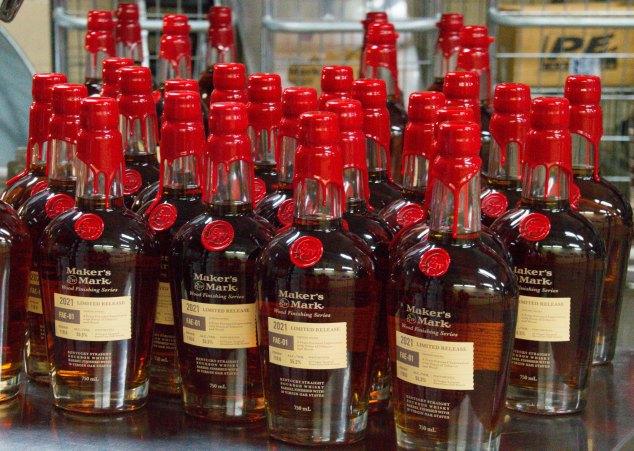 Maker's Mark FAE-01 bottles