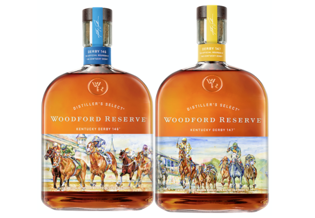 Woodford Reserve Derby bottles