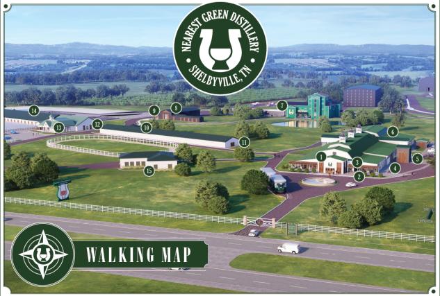 Nearest Green Distillery map