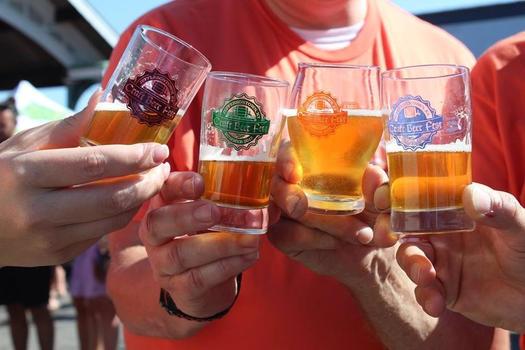 Beer glasses from Jeffersontown Beer Festival