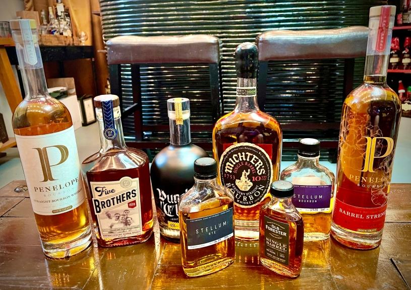 Bottles from Tasteless Tastings Olympics