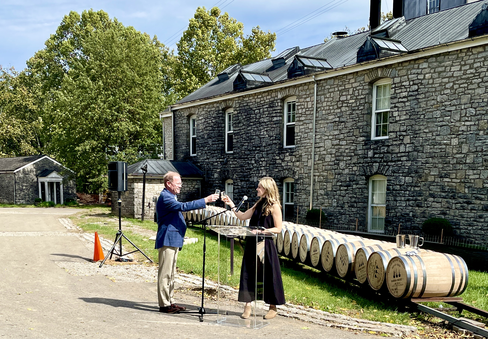 A scene at Woodford Reserve Distillery